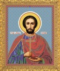 """Рисунок на ткани для вышивания бисером Бис 755 """"Святой Евгений"""""""