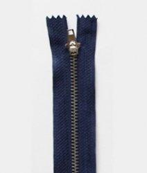 Молния джинсовая т.4 металл 10см. (1/50)
