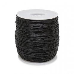 Шнур вощёный 1,5 мм, чёрный