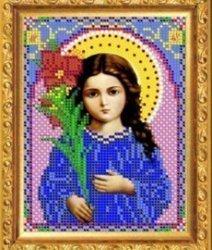 """Рисунок на ткани для вышивания бисером 365М """"Св.Богородица Трилествующая"""""""
