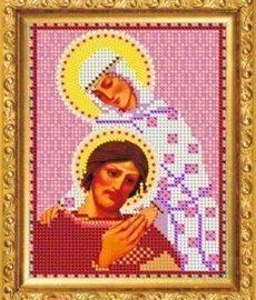 """Рисунок на ткани для вышивания бисером 418М """"Св.Блгв. Пётр и Феврония"""""""