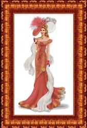 Канва для бисера КБЛ-2005 Дама с шарфом