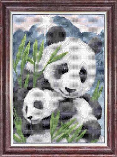 Канва для бисера КБЖ-4035 Мамы и их зверята. Панды