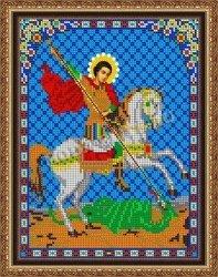 Pисунок на ткани для вышивания бисером 445М «Св. Георгий Победоносец»