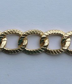 Цепь металл 9 мм. A1476 (20м.) золото