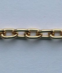 Цепь металл 3 мм. A2103 (40м.) золото