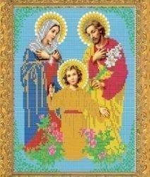 """Рисунок на ткани для вышивания бисером Бис 351 """"Святая Семья"""""""