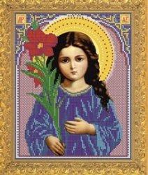 """Рисунок на ткани для вышивания бисером Бис 365 """"Св.Богородица Трилетствующая"""""""