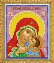 """Рисунок на ткани для вышивания бисером Бис 372 """"Прсв. Богородица Спасительница Утопающих"""""""