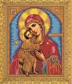 """Рисунок на ткани для вышивания бисером Бис 403 """"Прсв. Богородица Феодоровская"""""""