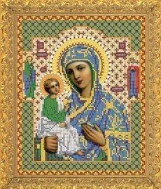 """Рисунок на ткани для вышивания бисером Бис 422 """"Прсв.Богородица Иерусалимская"""""""