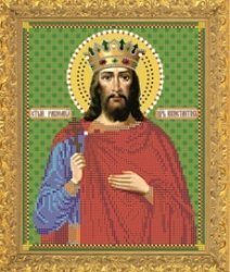 """Рисунок на ткани для вышивания бисером Бис 773 """"Святой Константин"""""""