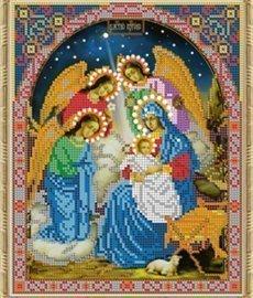 Рисунок на ткани для вышивания бисером Бис 444 «Рождество»