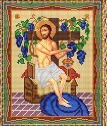 """Набор для вышивания бисером СВБ-455 """"Икона Иисуса Христа Виноградная лоза"""""""