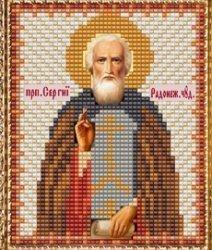 """Набор для вышивания бисером ВБ-123 """"Икона Святого Сергия Радонежского"""""""