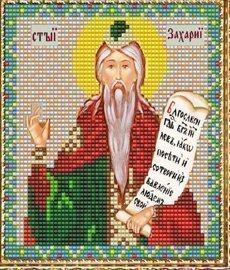 """Набор для вышивания бисером ВБ-136 """"Икона Св. Захария Праведного"""""""