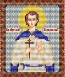 """Набор для вышивания бисером ВБ-137 """"Икона Святого Артемия (Артема) Веркольского"""""""