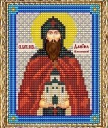 """Набор для вышивания бисером ВБ-139 """"Икона Святого Благоверного Князя Даниила"""""""
