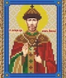 """Набор для вышивания бисером ВБ-155 """"Икона Святого Благоверного Царя Николая"""""""