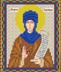 """Набор для вышивания бисером ВБ-216 """"Икона Св. Марии Палестинской"""""""