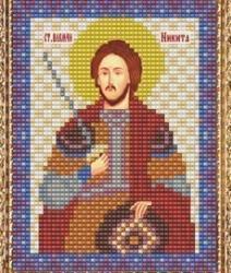 """Набор для вышивания бисером ВБ-220 """"Икона Св. Великомученика Никиты"""""""