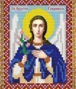 """Набор для вышивания бисером ВБ-232 """"Икона Святого Архангела Гавриила"""""""