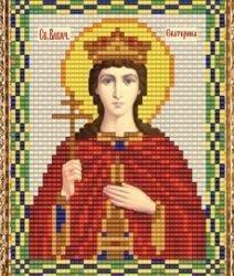 """Набор для вышивания бисером ВБ-239 """"Икона Святой Великомученицы Екатерины"""""""
