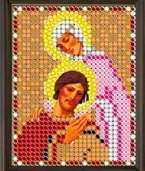 """Рисунок на ткани для вышивания бисером 418Л """"Св.Блгв.Пётр и Феврония"""""""