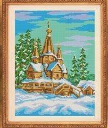 """Набор для вышивания бисером БВБ-844 """"Церковь зимой"""""""