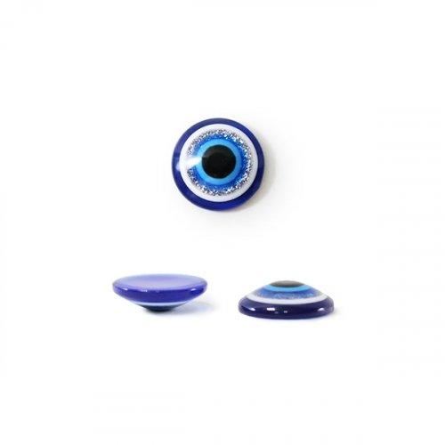 Бусины-Глазки от сглаза 8 мм, 1-стор.