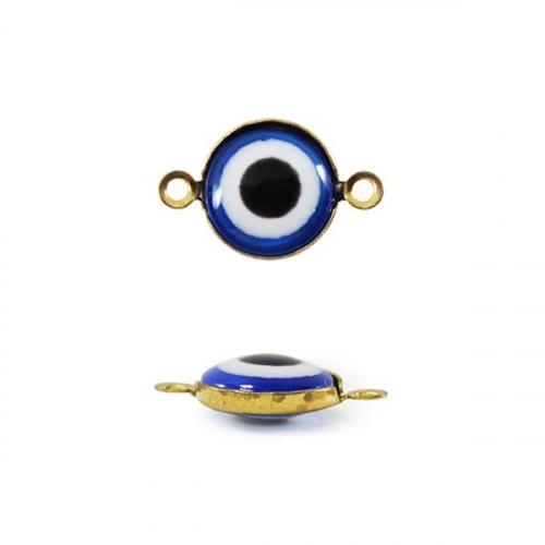Бусины-Глазки от сглаза 8 мм, 2-стор., с петелькой