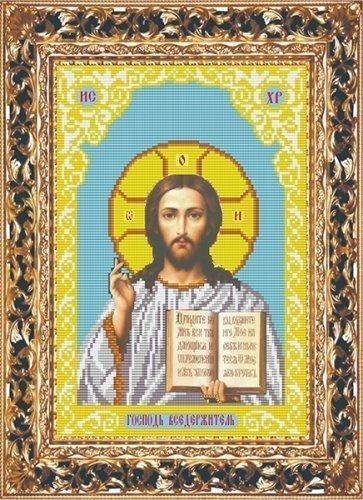 """Набор для вышивания бисером СВБ-3057 """"Икона Иисуса Вседержителя"""""""