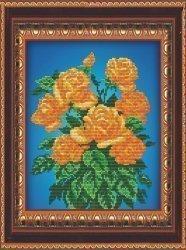 """Набор для вышивания бисером СВБ-562 """"Желтые розы"""""""