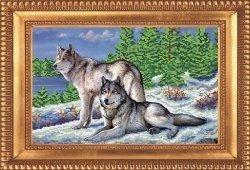 """Набор для вышивания бисером БВБ-867 """"Волки"""""""