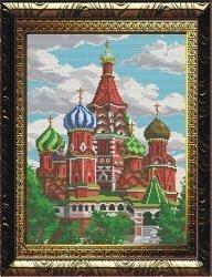 """Набор для вышивания бисером БВБ-881 """"Храм Василия Блаженного"""""""