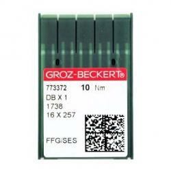 Иглы GROZE-BECKERT DBx1 для промышленных швейных машин (прямострочка)