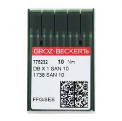 Иглы GROZE-BECKERT DBx1 SAN10 на промышленную швейную машинку для трикотажа