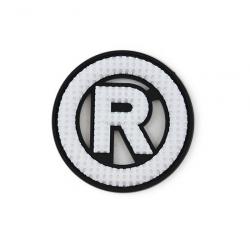"""Нашивка №9 """"R"""" черн./бел. 1/25 шт"""