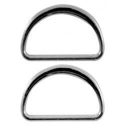 Полукольцо металлическое №A078 2,5см
