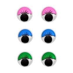 Глазки круглые с ресничками 12 мм 1/500 шт