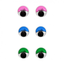 Глазки круглые с ресничками 8 мм 1/1000 шт