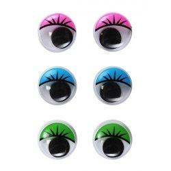 Глазки круглые с ресничками 18 мм 1/500 шт