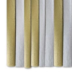 Гофрированная бумага золото/серебро