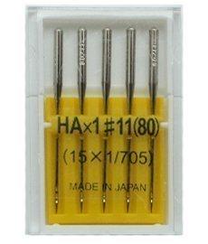 Иглы №80(11) для бытовых швейных машин (шифон)