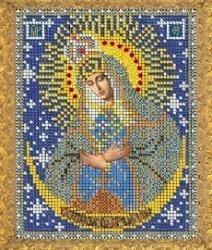 """Рисунок на ткани для вышивания бисером 419М """"Прсв. Богородица Остробрамская"""""""
