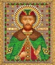 """Рисунок на ткани для вышивания бисером 776М """"Святой Святослав"""""""