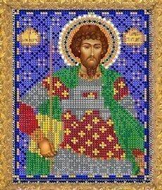 """Рисунок на ткани для вышивания бисером 780М """"Святой Феодор Стратилат"""""""