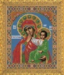 """Рисунок на ткани для вышивания бисером Бис 359 """" Прс. Богородица Отрада или Утешение"""""""