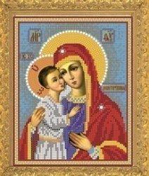 """Рисунок на ткани для вышивания бисером Бис 382 """"Прсв. Богородица Девпетерувская"""""""