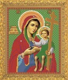 """Рисунок на ткани для вышивания бисером Бис 401 """"Св.Прсв. Богородица Новоникитская"""""""